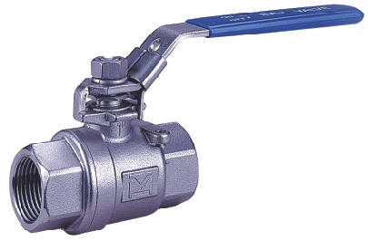 2-PC Screwed End Ball Valve, ASTM A351