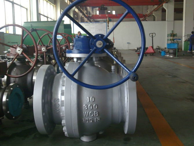 2-Way Trunnion Mounted Ball Valve, Cast Steel
