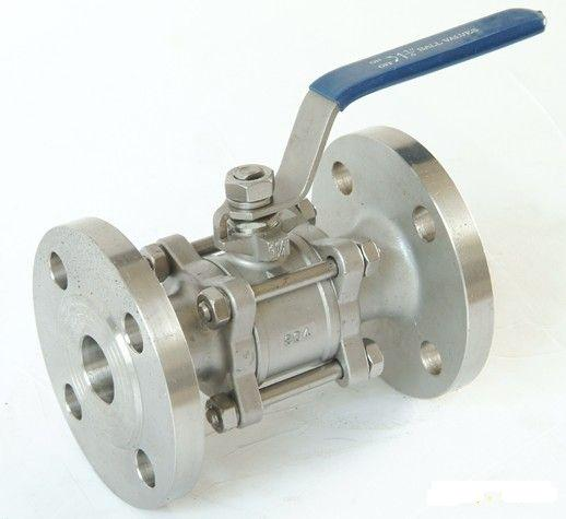 Cast Steel Three Piece Flanged Trunnion Ball Valve